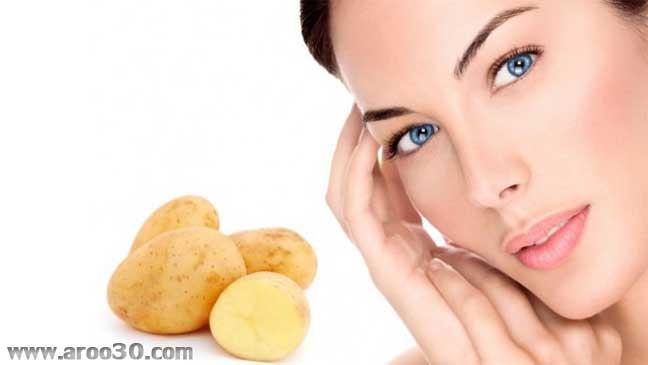 شفاف سازی پوست با سیب زمینی