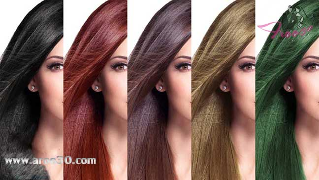 رنگ  مو و انواع  رنگ مو