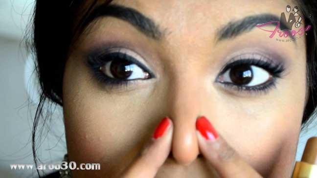 با آرایش بینی را کوچکتر نشان دهید