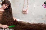 دختری با موهای 1.5 متری