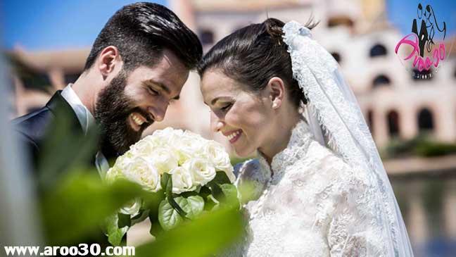 ژست های عکس عروس و داماد