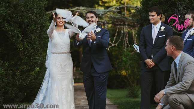 رفتار عروس و داماد در جشن عروسی