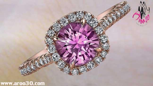 مدل های حلقه ازدواج با سنگ های رنگی