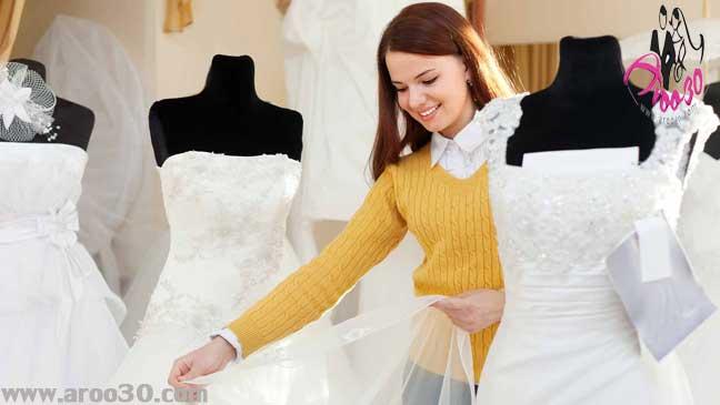 لباس عروس مناسب برای شانه های پهن