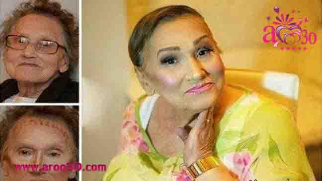 تغییر چهره باورنکردنی پیرزن ها با آرایش + عکس