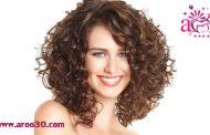 صاف کردن موهای فرفری