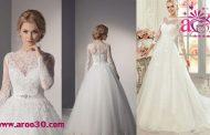 لباس عروس آستین دار+عکس