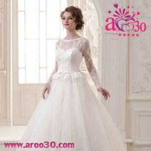 لباس عروس های آستین دار+عکس