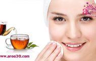 شفافیت پوست صورت با چای