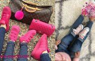 تصاویر ست کفش مادر و دختر برای عید 97