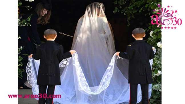 لباس عروس گرانقیمت جشن عروسی مگان مارکل و شاهزاده هری