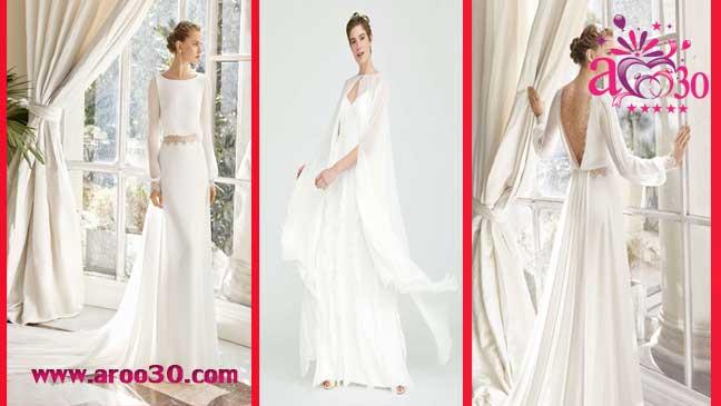 لباس عروسی ژرژت آستین بلند
