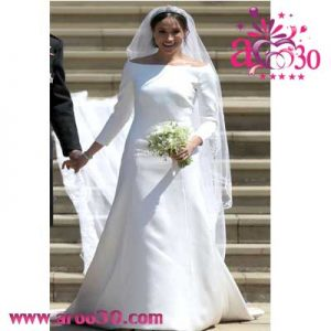 افشای ۵ نماد مخفی لباس عروسی «مگان مارکل»
